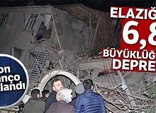 6,8 büyüklüğündeki Elazığ depreminde 19 kişi hayatını kaybetti