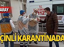 Aksaray'da 1'i Türk 10 kişi karantina altında!