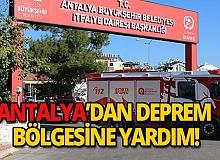Antalya'dan depremzedelere yardım eli