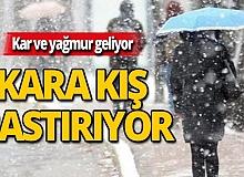 Antalya dikkat! Kara kış bastırıyor