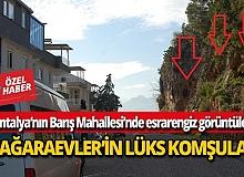 Antalya'nın Barış Mahallesi'nde esrarengiz görüntüler