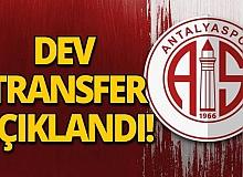 Antalyaspor'da dev transfer!