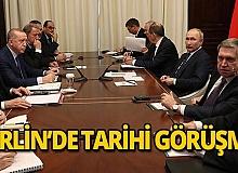 Cumhurbaşkanı Erdoğan Berlin'de Putin ile görüştü!