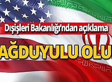 Dışişleri Bakanlığı, ABD ve İran'ı diplomasiye davet etti
