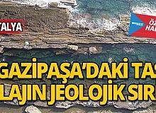 Gazipaşa'daki taş plajın jeolojik sırrı