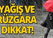 Güneşli havalara aldanmayın, rüzgar ve yağış geliyor!