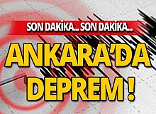 Elazığ'dan sonra Ankara'da korkutan deprem!