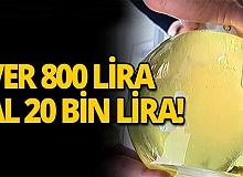 Ver 800 lira al 20 bin lira!