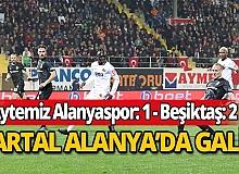 Alanyaspor, Beşiktaş'a 2-1 mağlup oldu