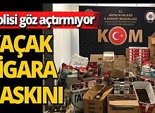 Antalya'da kaçak sigara imalatı operasyonu