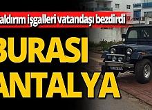 Antalya'da engelliye dikey kaldırım işgali engeli