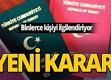 İçişleri Bakanlığı'ndan pasaport kararı