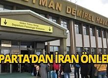 İran'dan Charter seferleri başlayan Isparta'da tedbirler alındı