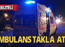 Korkuteli'nde ambulans kazası: 3 yaralı