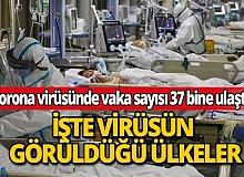 Koronavirüsün bulaştığı kişi sayısı 37 bine ulaştı!