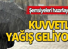 Meteoroloji, Antalya için kuvvetli yağış uyarısı yaptı