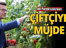 """AK Partili Uslu: """"Tarım kredi ödemeleri faizsiz iki ay ertelendi"""""""