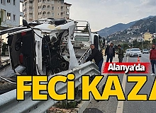 Alanya'da feci kazada baba öldü, oğlu yaralandı