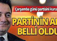 Ali Babacan Çarşamba günü partisini kuruyor! Partinin ismi belli oldu