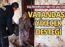 Antalya'da Kaş Belediyesi'nden, 65 yaş üstü ve hastalar için özel yardım ekibi