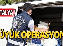 Antalya'da sahte şampuan, deterjan ve maske operasyonu
