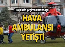 Korkuteli'nde kalp krizi geçiren vatandaşa hava ambulansı yetişti