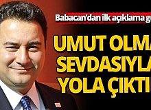 Ali Babacan'ın partisinden ilk açıklama geldi
