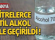 Alanya'da 300 litre etil alkol ele geçirildi