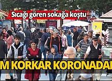 Antalya'da güneşi gören sokağa koştu