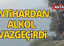 Antalya'da intihardan alkol vazgeçirdi