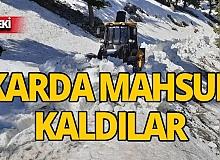 Antalya'da karda mahsur kaldılar