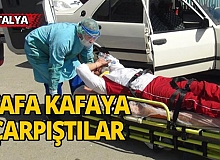 Antalya'da kontrolsüz kavşakta kaza