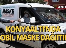 Antalya'da mobil maske dağıtımı