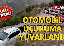 Antalya'da otomobil uçuruma yuvarlandı: 1 ölü, 1 yaralı