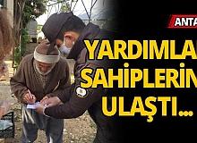 Antalya'da yardımlar sahiplerine ulaştı