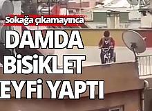 Antalya damda bisiklet yaptı