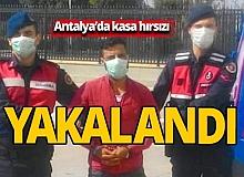Antalya'dan plastik kasa hırsızı yakalandı