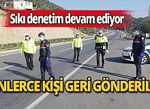 Antalya girişinden 2 bin 809 kişi geri gönderildi