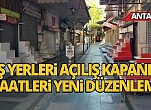 Antalya İl Hıfzıssıhha'dan işyerlerine saat düzenlemesi