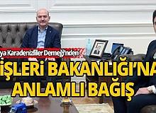 Antalya Karadenizliler Derneğinden anlamlı bağış