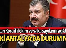 Antalya vaka sayısında ilk 10 il arasında yer almazken ölümde olmadı!