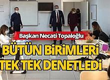 Kemer Belediye Başkanı Topaloğlu, ilçedeki çalışmaları denetledi