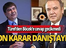 Menderes Türel'den Muhittin Böcek'e Konyaaltı Sahili davasına ilişkin cevap gecikmedi