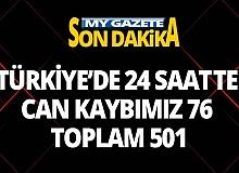 Türkiye'de korona 501 canımızı aldı