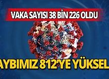 Türkiye'de korona virüs nedeniyle bugün 87 kişi hayatını kaybederken ölü sayısı 812'ye yükseldi.
