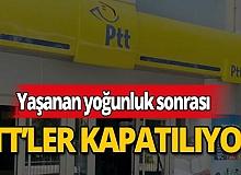 Yoğunluk yaşanan PTT'ler kapatılacak