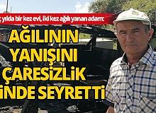 Antalya'da ağıl yangını