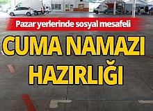 Antalya'da camiler ve pazar yerlerinde cuma namazı hazırlığı