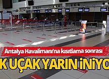 Antalya'da yurt içi uçuşlar yarın başlıyor