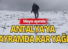 Antalya'ya bayramda kar sürprizi